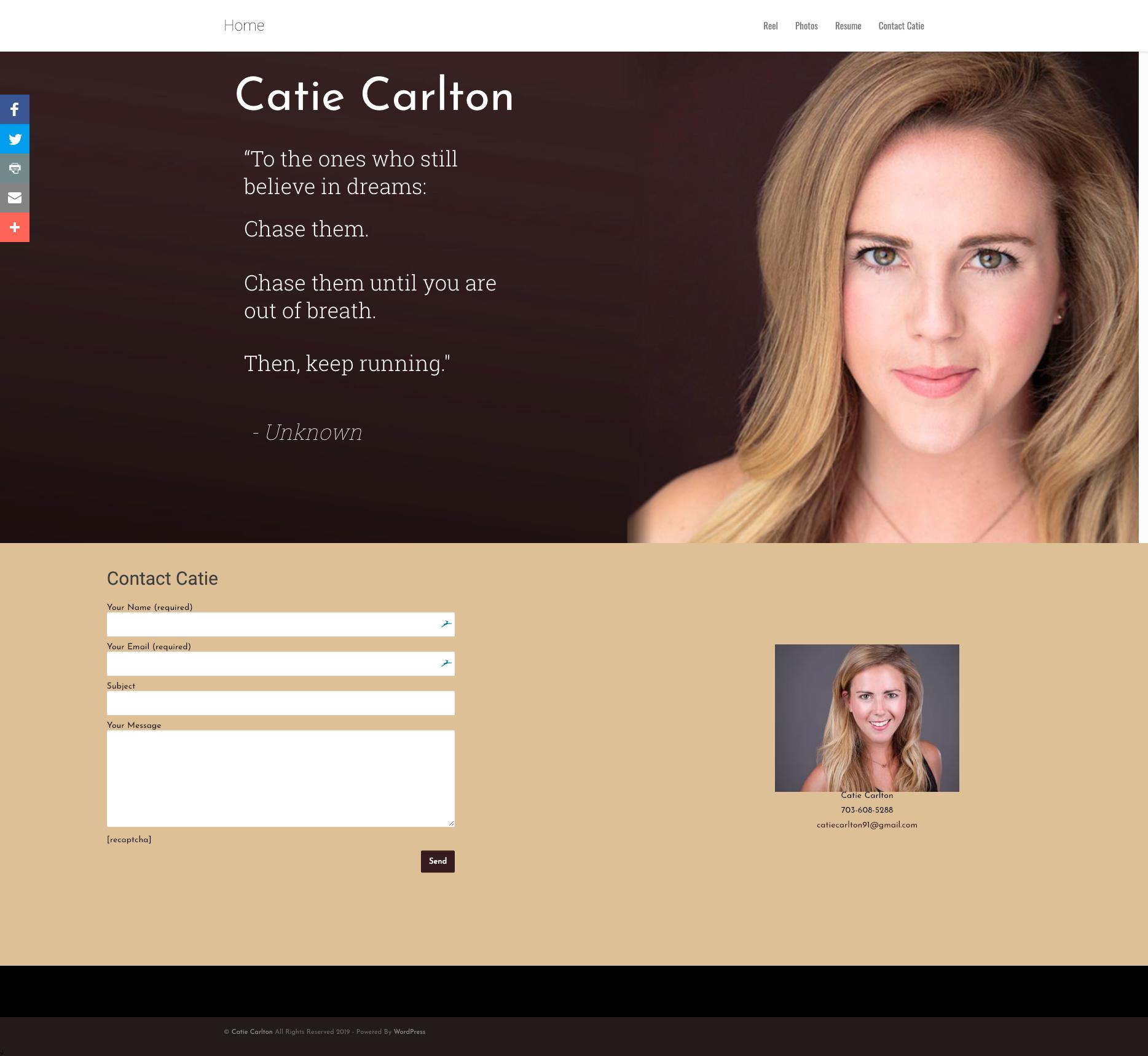 Catie Carlton – Actor Website